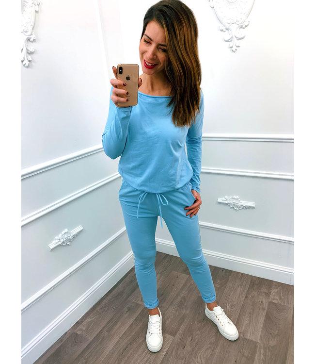 Comfy Jumpsuit Blauw