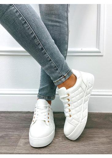 Pattern Sneaker Wit
