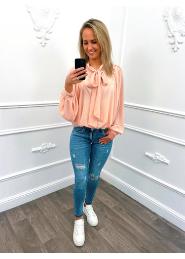 Oversized Strik Blouse Roze