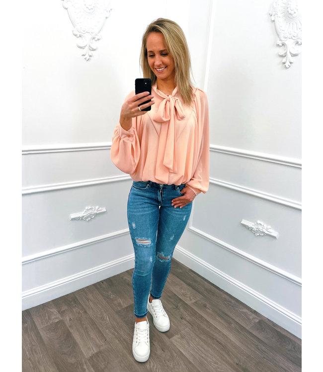 Oversized Strik Blouse Roze