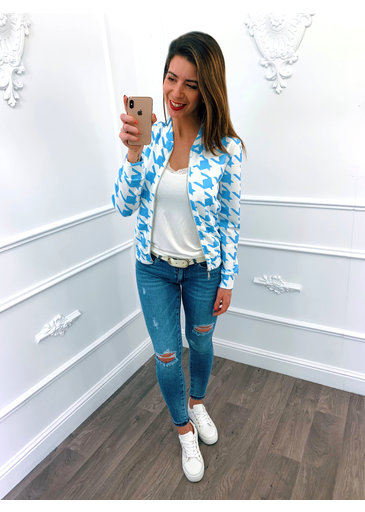 Digital Jacket Blauw