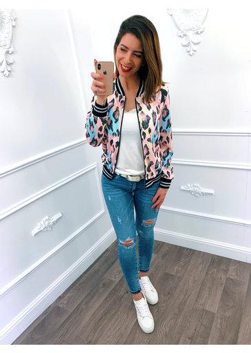 Leopard Jacket Roze