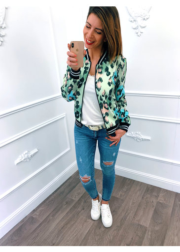 Leopard Jacket Mint Groen