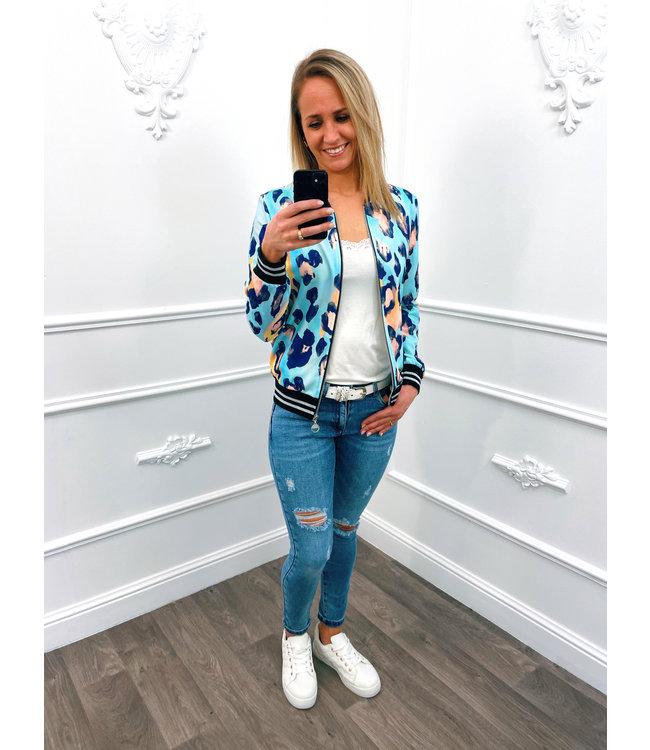 Leopard Jacket Blauw