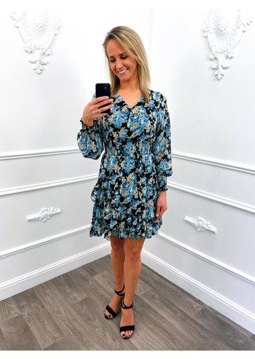 Roses Ruffel Dress Blauw