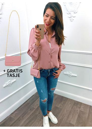 Special Blouse Roze + Gratis Tasje