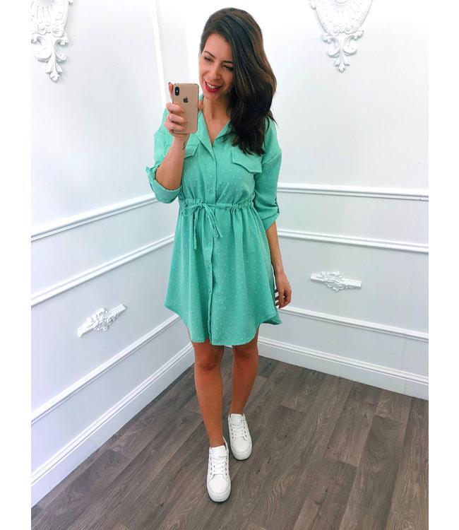 Blouse Dots Dress Mint Groen