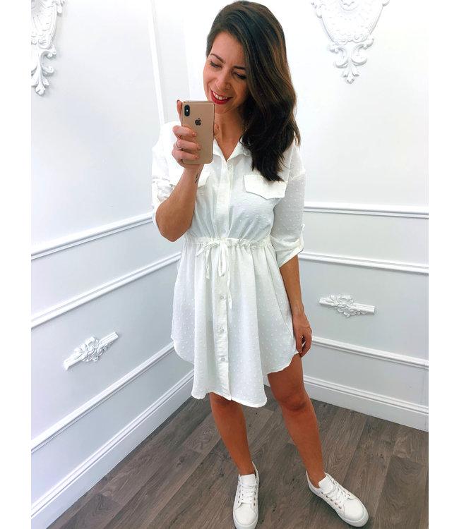 Blouse Dots Dress Wit