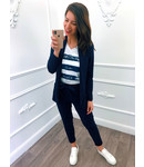 Suit Marine Blauw