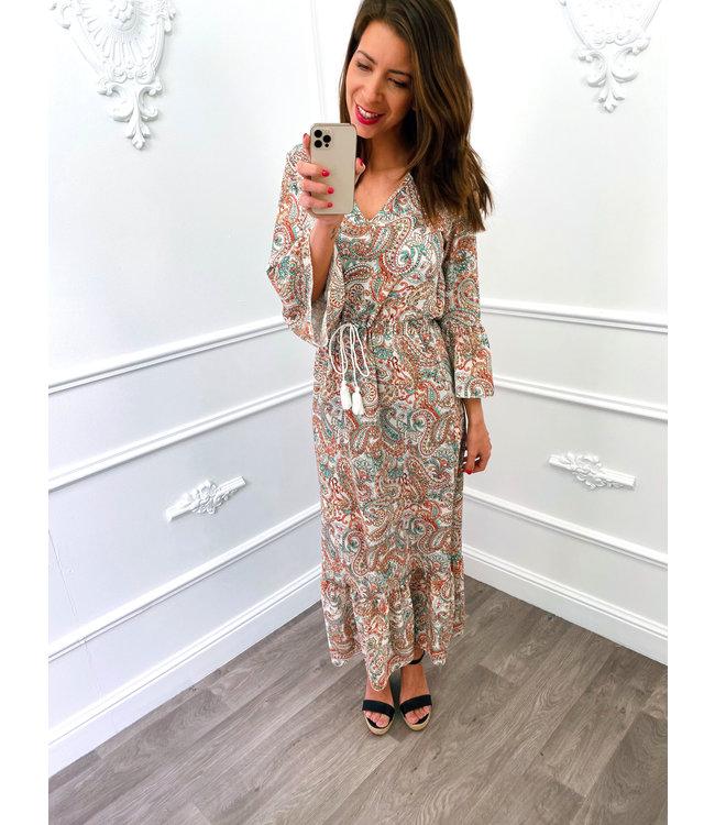 Paisley Dress Creme