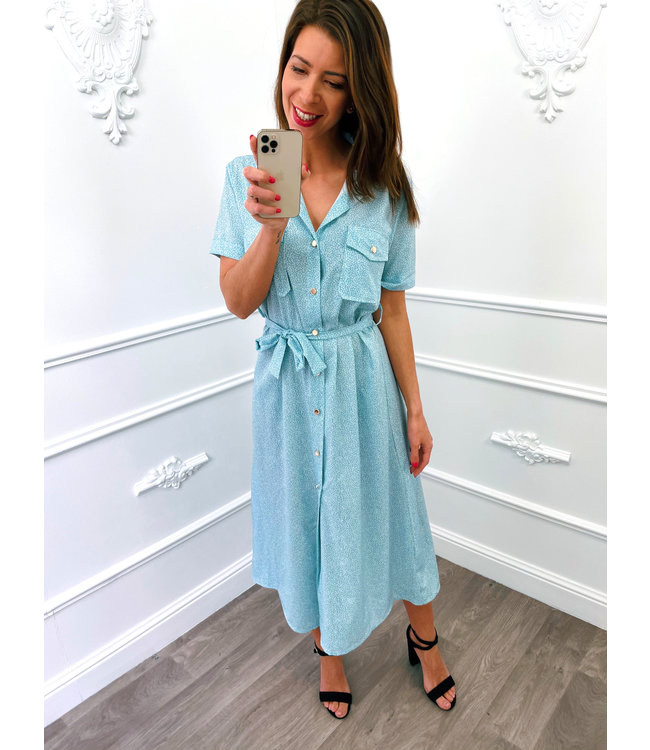 Sprinkles Dress Baby Blauw