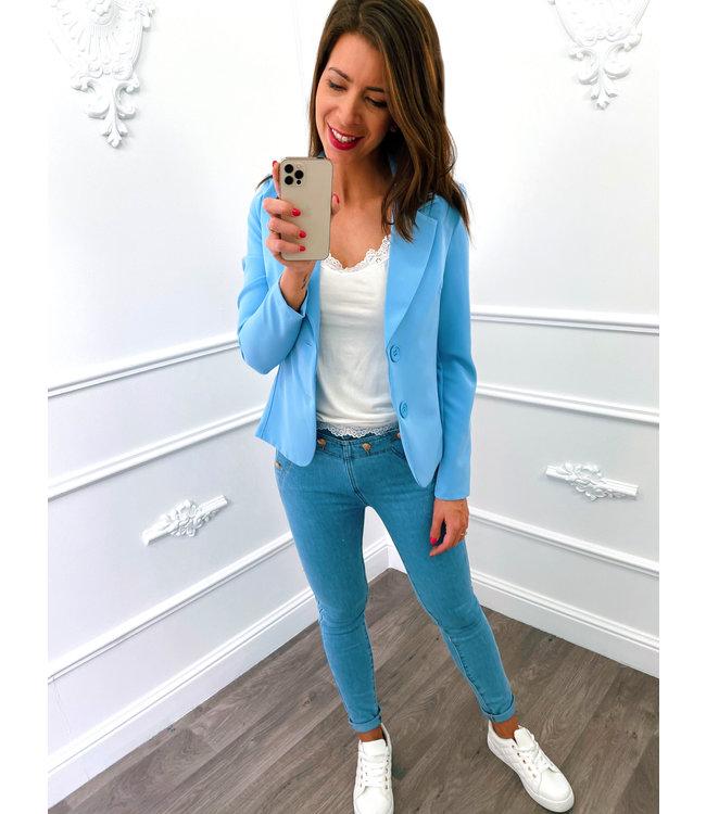 Blazer Stretch Bleu