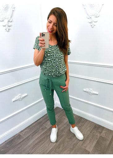 Leopard V Top Groen