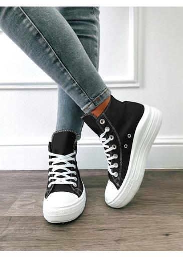 High Sneaker Zwart
