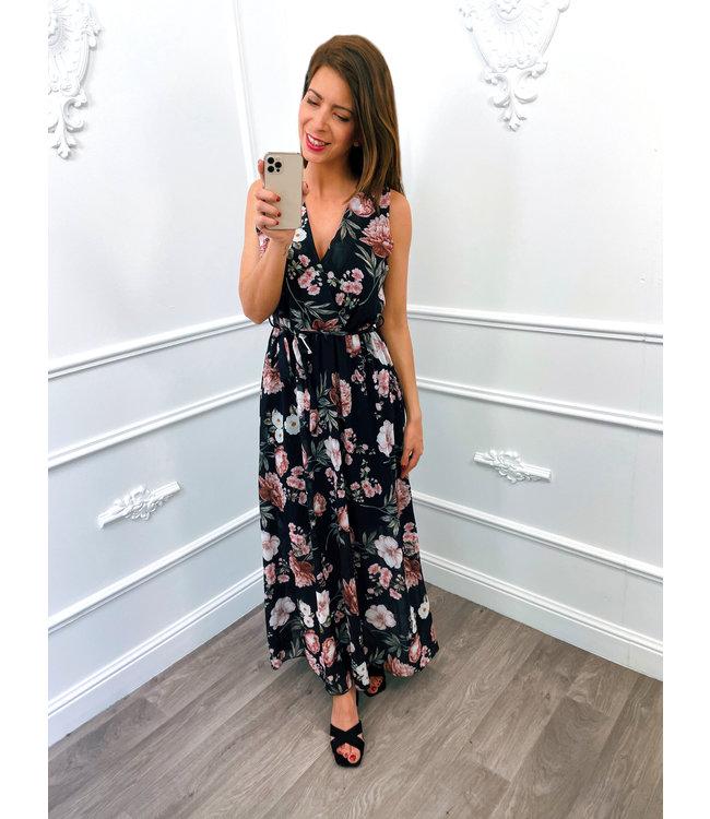 Romantic Flower Dress Zwart