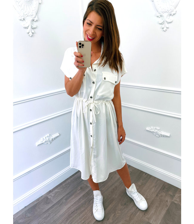 Blouse Dress Korte Mouw Wit