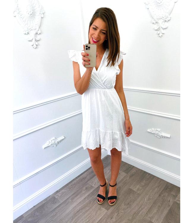 Cotton Lace Dress Wit