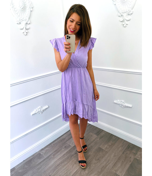 Cotton Lace Dress Lila