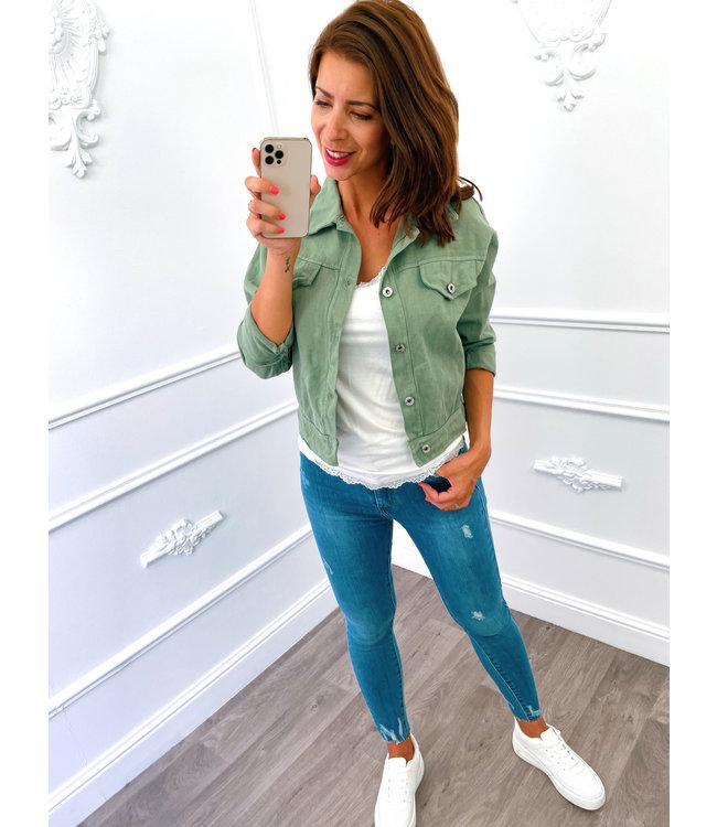 Short Jacket Groen