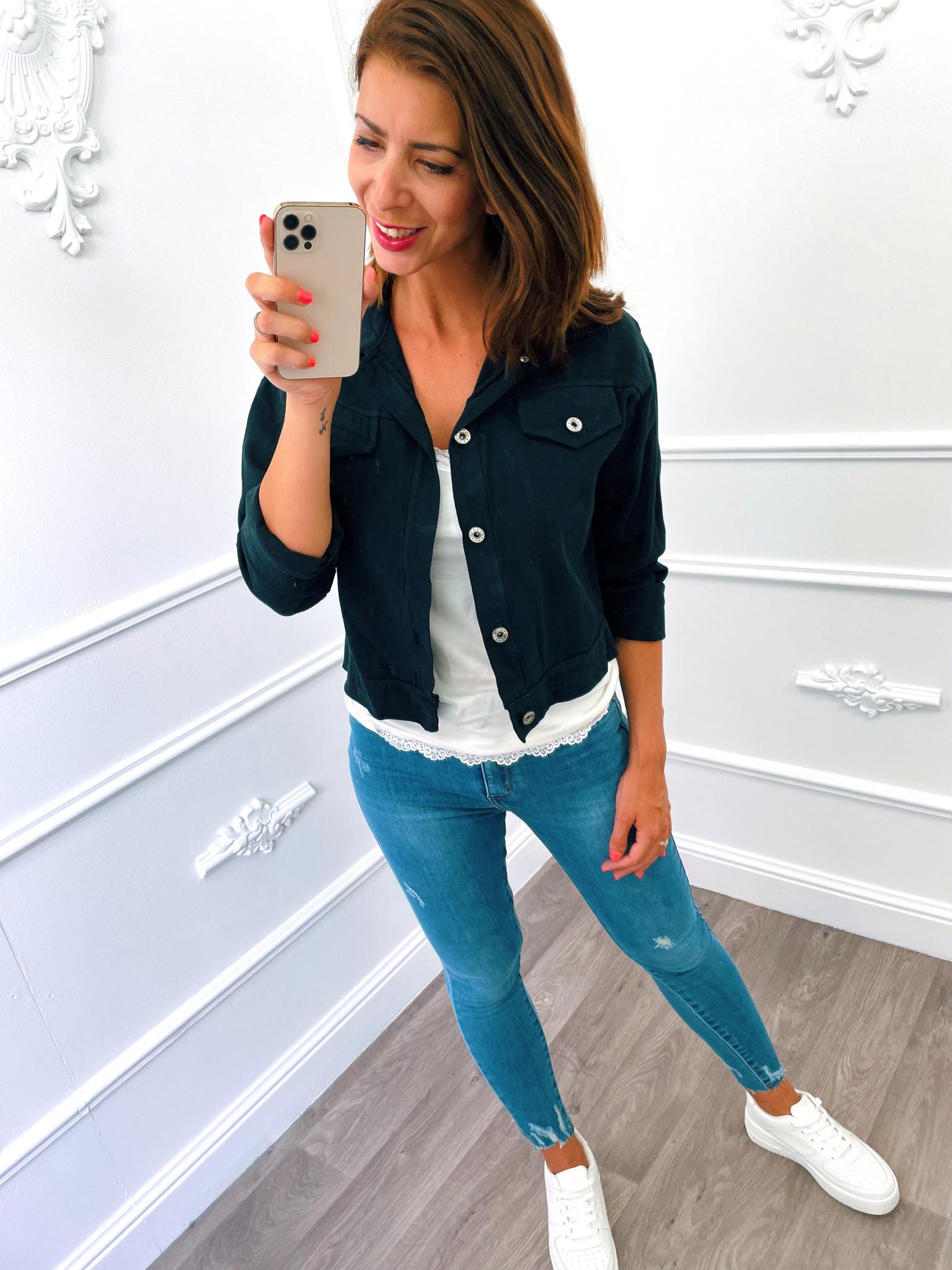 Short Jacket Zwart
