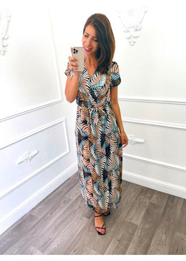 Palm Dress Lang Beige