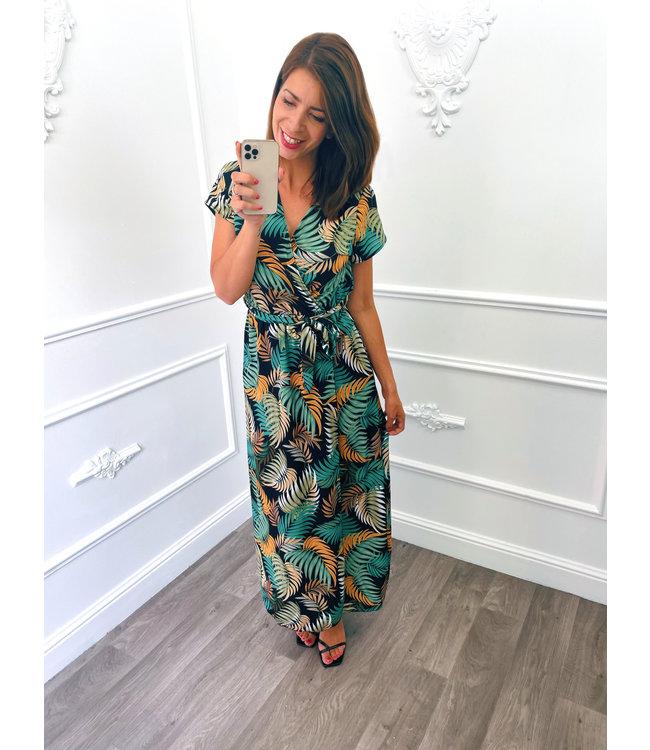 Palm Dress Lang Groen