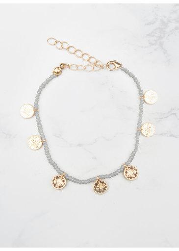Grey Coins Bracelet