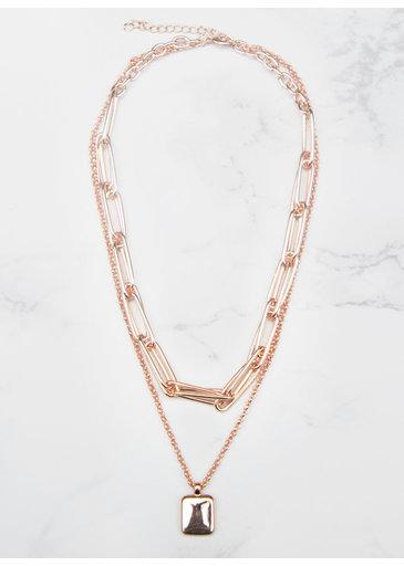 Medallion Necklace Rose