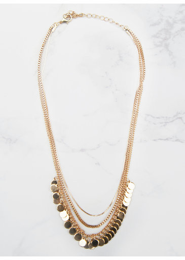 Necklace Small Coins Gold