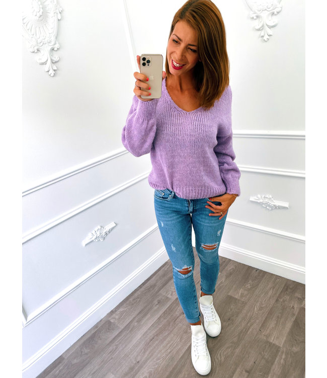 Trui Knitted Lila