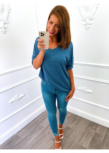 Basic Sweater Jeans Blauw