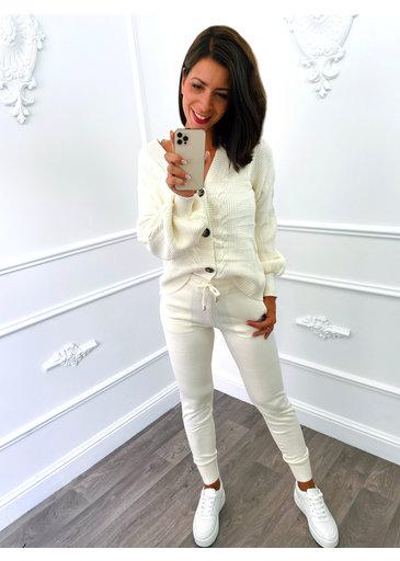 Costume Confortable Blanc