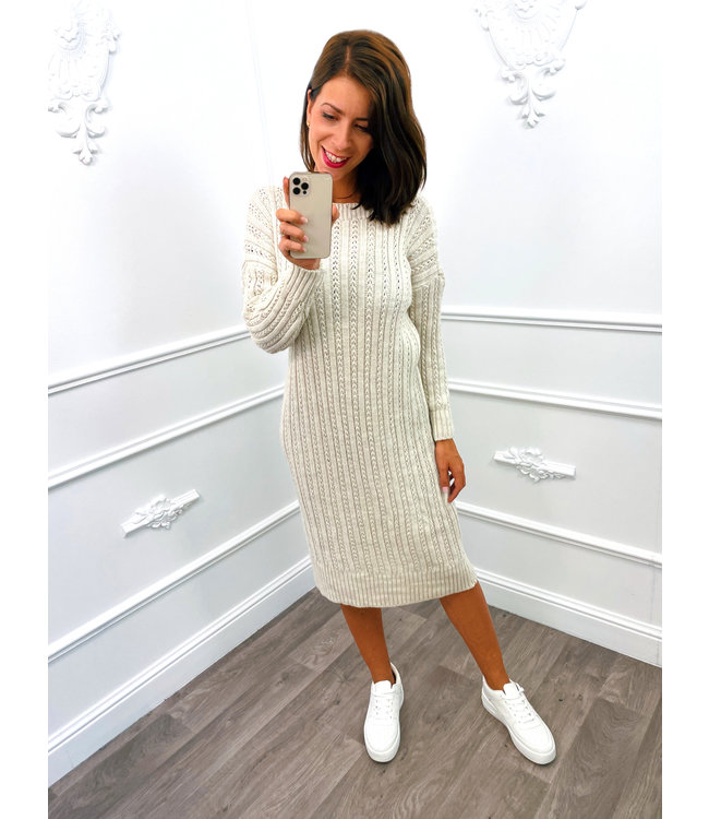 Knitted Dress Creme
