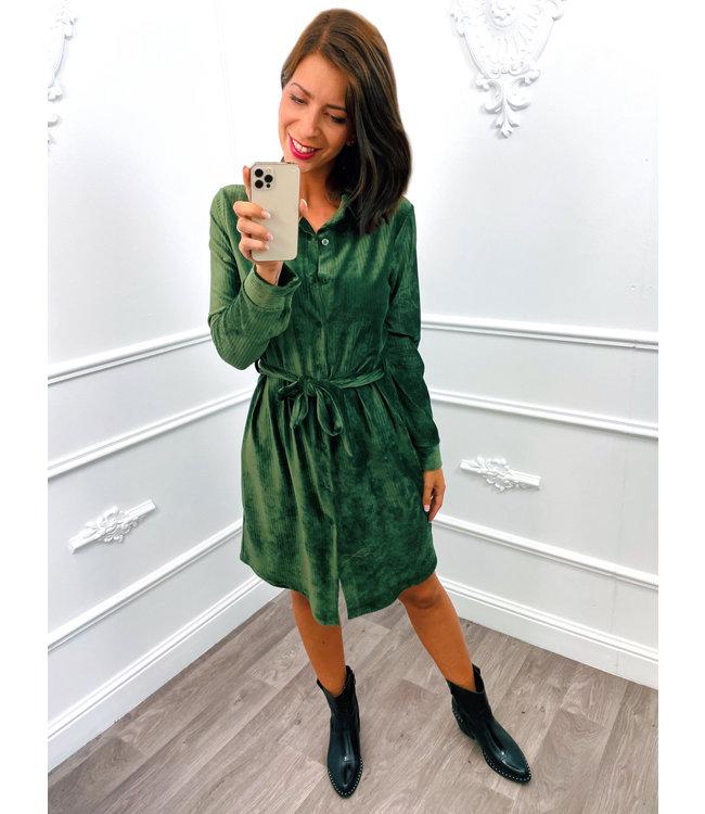 Velours Dress Groen