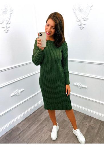Knitted Dress Groen