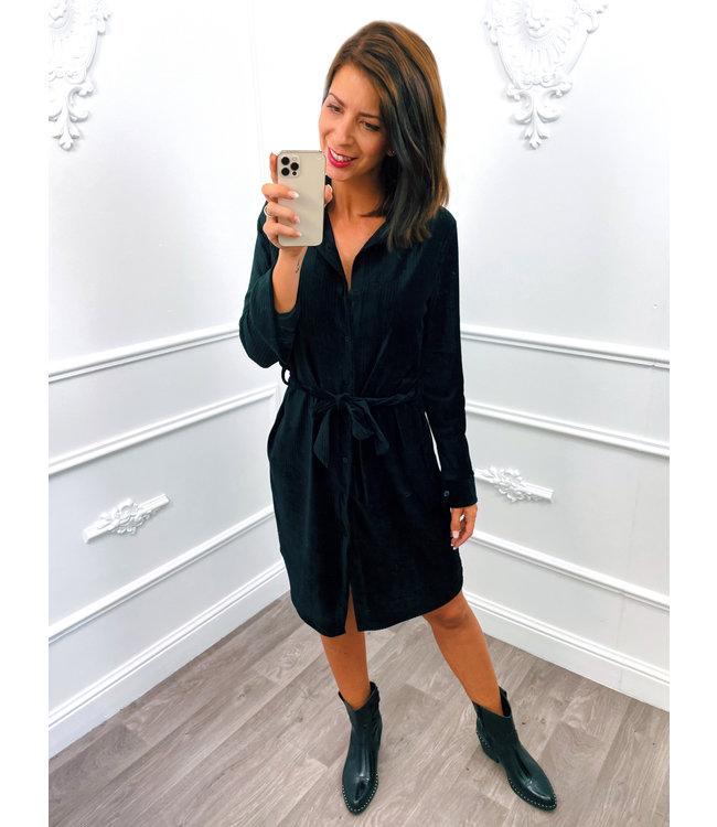 Velours Dress Zwart
