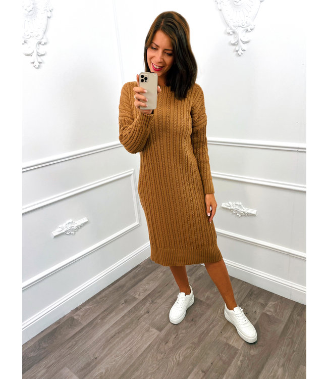 Knitted Dress Camel