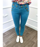 Button Jeans Blauw