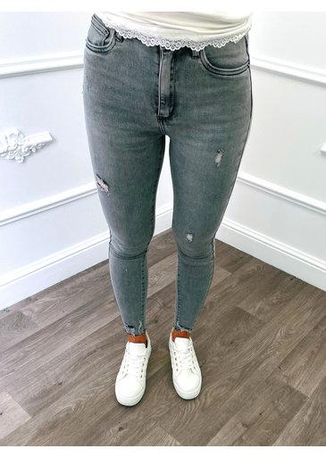 Jeans en Denim Gris