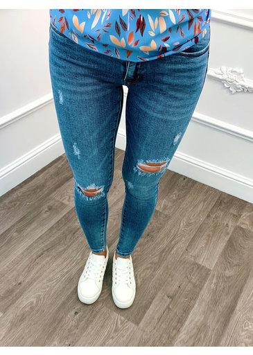 Jean Skinny Rip Bleu