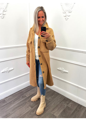Veste en Peluche Camel