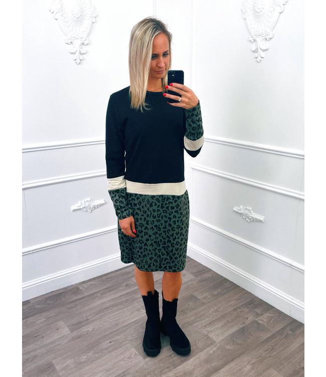 Panter Sweater Dress Groen