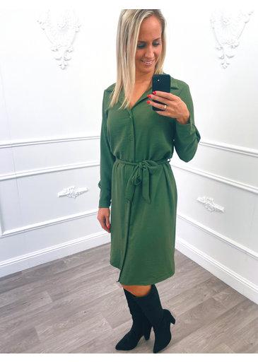 Blouse Dress Groen