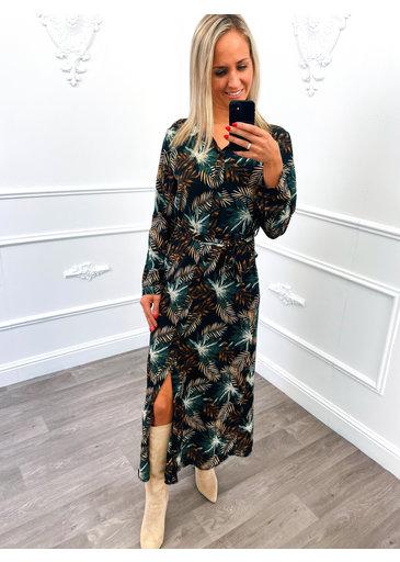 Palm Maxi Dress Groen