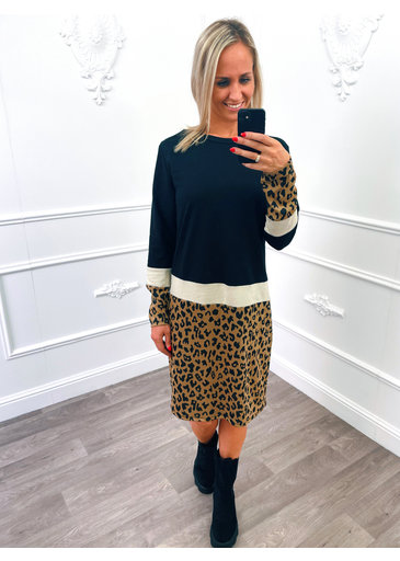 Panter Sweater Dress Beige