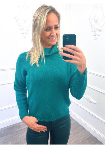 Col Roulé Ample Emerald