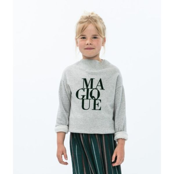 By-Bar 81H Girls jikke sweater grey-825