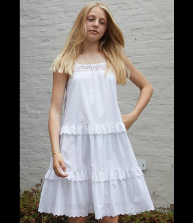 Little Remix 12E 16767 SANDRA strap dress cream