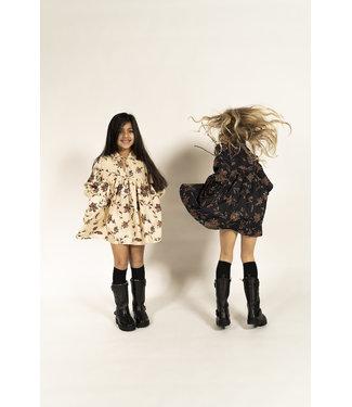 Simple Kids Simple Kids ecru kleedje met bloemenprint