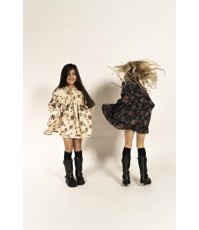 Simple Kids ecru kleedje met bloemenprint